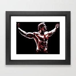 Arnold Schwarzenegger Portrait Pop  Framed Art Print