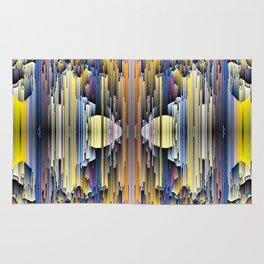 abstract rain 6 Rug