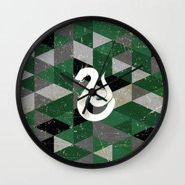 Slytherin House Pattern Wall Clock