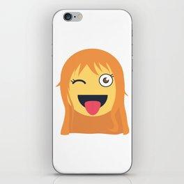 Nami Emoji Design iPhone Skin