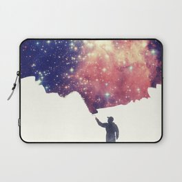 Painting the universe (Colorful Negative Space Art) Laptop Sleeve