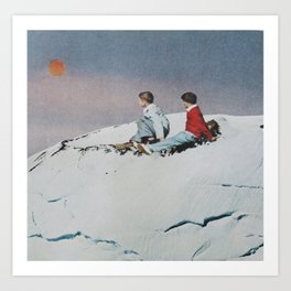 Sunset Children Art Print