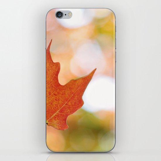 Maple leaf bokeh iPhone & iPod Skin