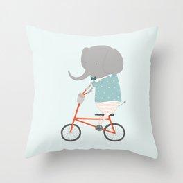William Rides Throw Pillow