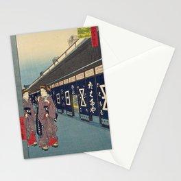 In Edo City. Ukiyoe Landscape Stationery Cards