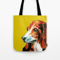 beagle Tote Bags featuring Beagle by James Peart