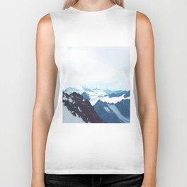 No limits - mountain print Biker Tank
