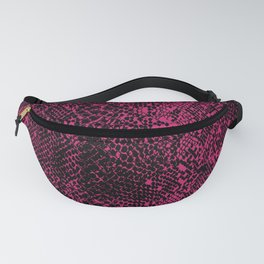Snake Pink Peacock Fanny Pack