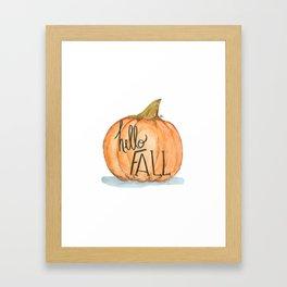 Hello fall pumpkin Framed Art Print