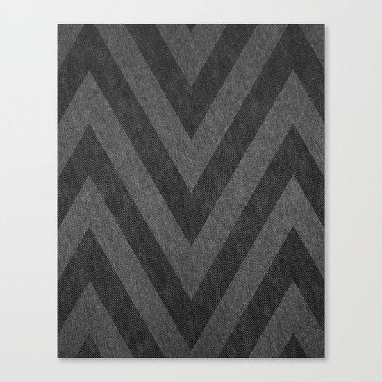 Jersey Chevron Canvas Print