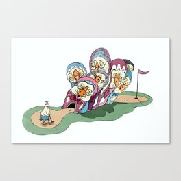 Mother Goose's Seven Holes  Canvas Print