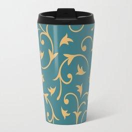 Baroque Design – Gold on Teal Travel Mug