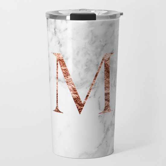 Monogram rose gold marble M by marbleco