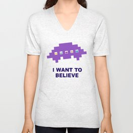 I Want To Believe in UFO Unisex V-Neck