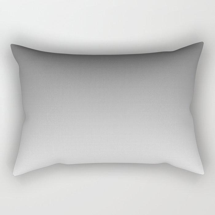 Gray Light Ombre Rectangular Pillow