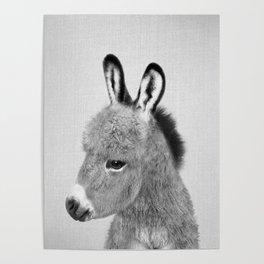 Donkey - Black & White Poster