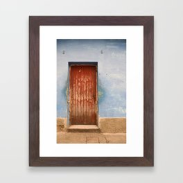 Havana Cuba Island Tropical Caribbean Latin Old Wooden Door Doorway Stucco Art Print Framed Art Print