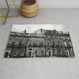 Edinburgh, Scotland Quaint City Homes Rug