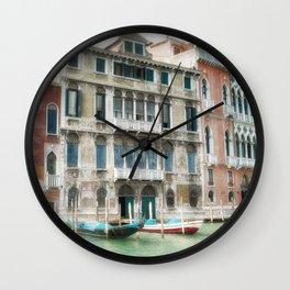 Venice Gondola Grand Canal Palazzo Wall Clock
