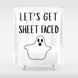 Get Sheet Faced Shower Curtain