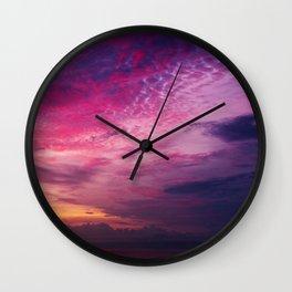 Red Sky Sunrise Wall Clock
