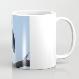 Great Blue Heron with a bird's eye view Coffee Mug