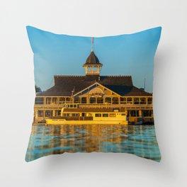 The Balboa Pavilion Throw Pillow