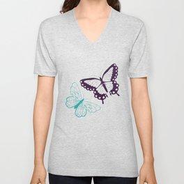Butterfly pattern 008 Unisex V-Neck