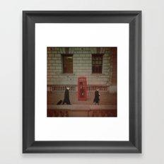 London's Red Phone Box. Framed Art Print