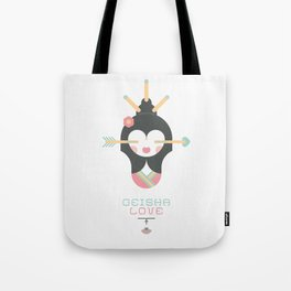 Geisha Love (Japan Contrasts series) Tote Bag