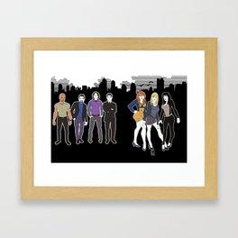 Criminal Minds Cast  Framed Art Print
