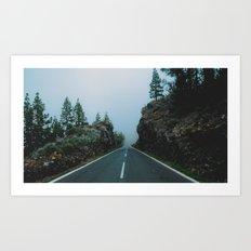 Foggy driving Art Print
