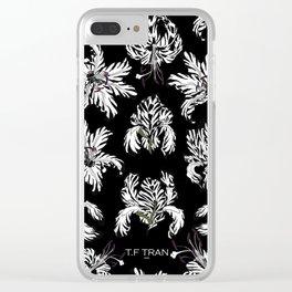 T.F TRAN ZEBRA FLORALS Clear iPhone Case