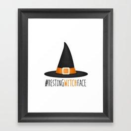 #RestingWitchFace Framed Art Print