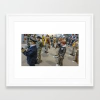 military Framed Art Prints featuring The Military by sannngat