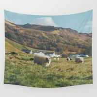 iceland Wall Tapestries featuring Iceland by Chelle Wootten