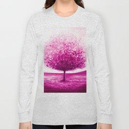 Pink tree landscape Long Sleeve T-shirt