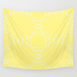 Lemon Yellow Color Burst Wall Tapestry