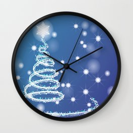 Christmas background with bokeh and snowflake Wall Clock