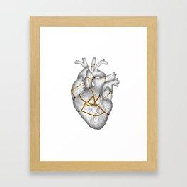 kintsukuroi Heart Framed Art Print