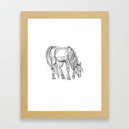 Little Line Horse Framed Art Print