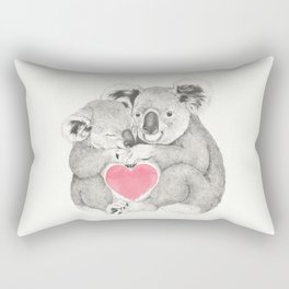 Koalas love hugs Rectangular Pillow