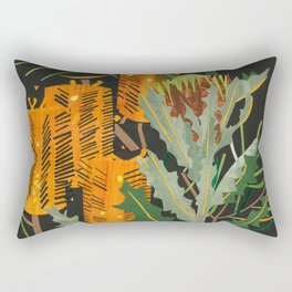 Hairpin Banksia Rectangular Pillow