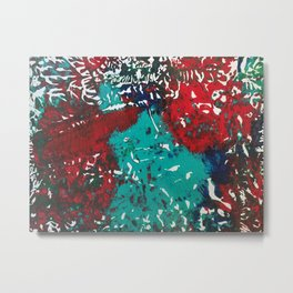 Abstracted Wolf and Kitten Metal Print