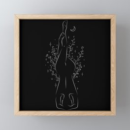 The Beautiful Yoga Pose Garuda Salamba Sirsasana Black Framed Mini Art Print