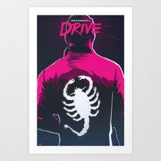 Drive (Night Version) Art Print