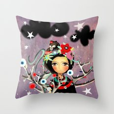 Once upon a time a doll Throw Pillow