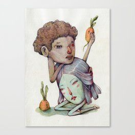 Melancholy pair and potato-carrots  Canvas Print
