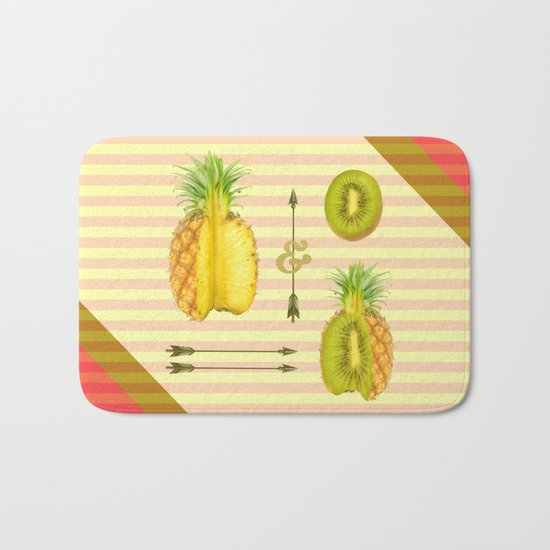 what if a pineapple fall in love with a kiwi ? Bath Mat