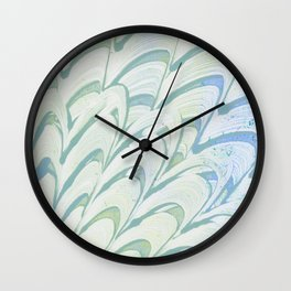 Blue Grey Fanning Wall Clock
